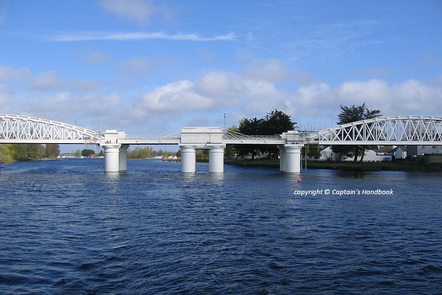 "Athlone White Railway Bridge; © Captain's Handbook; click picture to ""enlarge"""