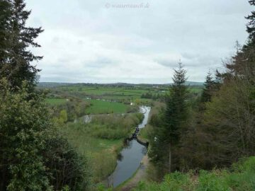 Beautiful View of Clasganna Lock from the Hill