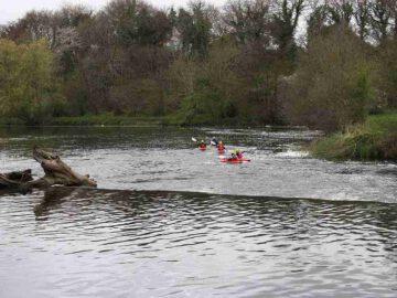 Kayaker below Clashganna weir