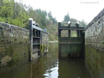 Patrick opens the Lockgate downstream to the Barrow