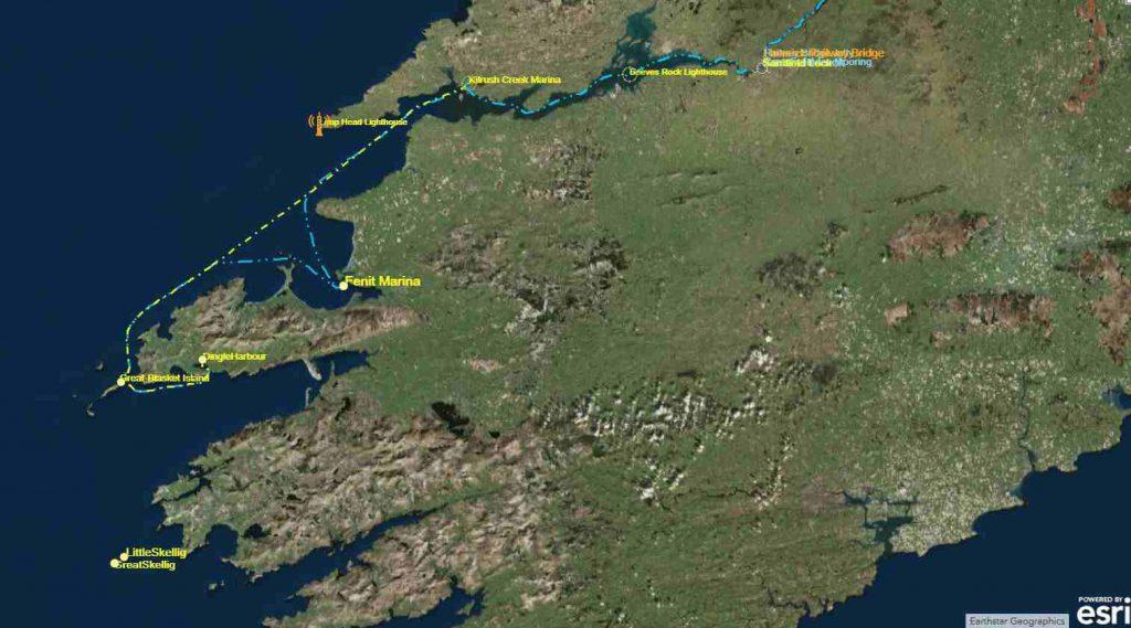 """""""Arthur's"""" Summer Coastal Cruising Odyssey 2011; © esri mapping"""