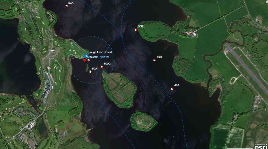 Coordinates Lough Erne Golf Resort; © esri