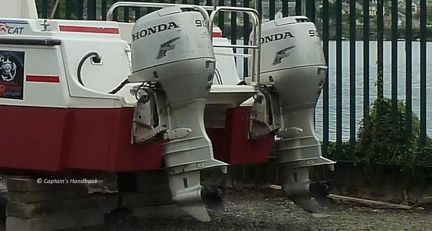 Gestohlene 90 HP Honda Outborder