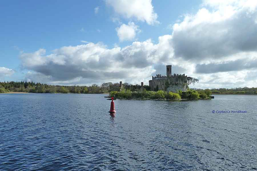 "Lough Key Castle Island; © Captain's Handbook; click picture to ""enlarge"""