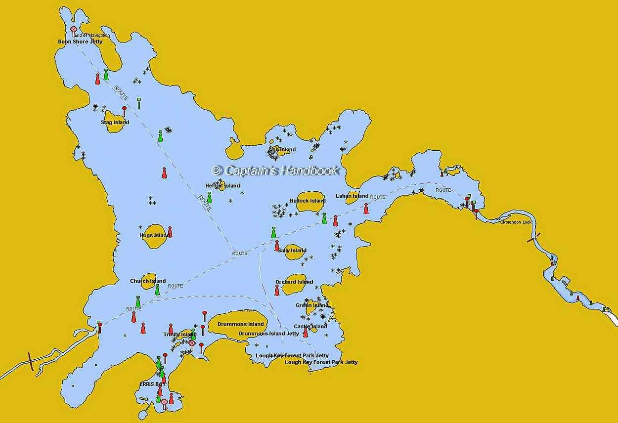 Lough Key Map; © Captain's Handbook