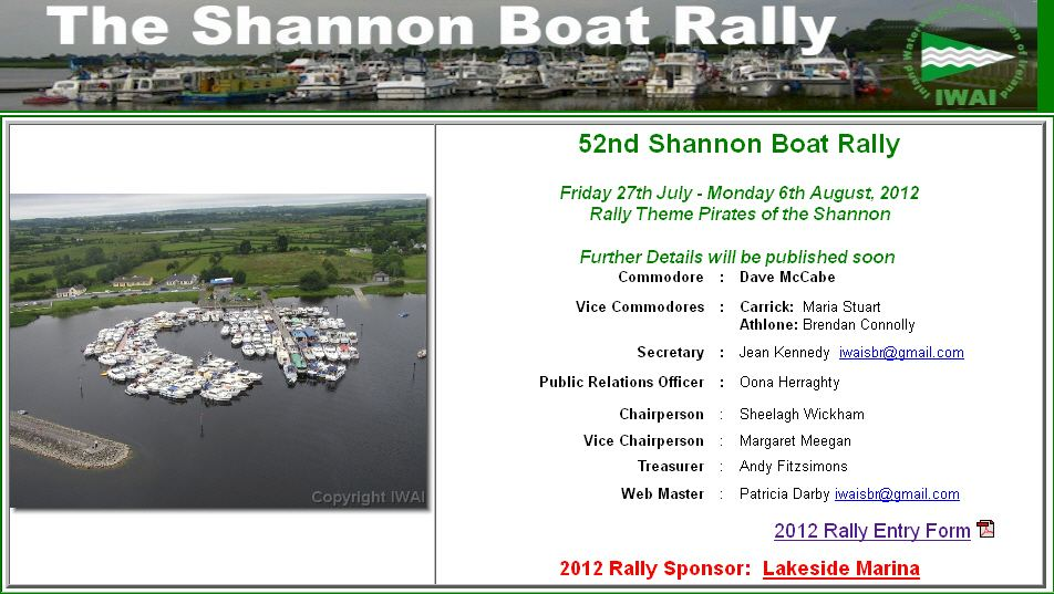 The Shannon Boat Rally