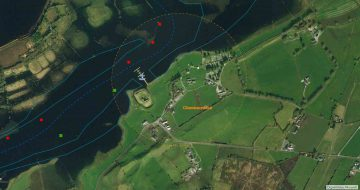 Mooring at Clonmacnoise; © esri