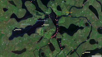 Lower- Upper Lough Erne; © esri; click to ArcGiMap Erne