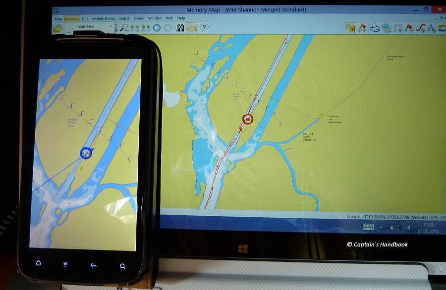 Navigationsbeispiel Meelick Lock