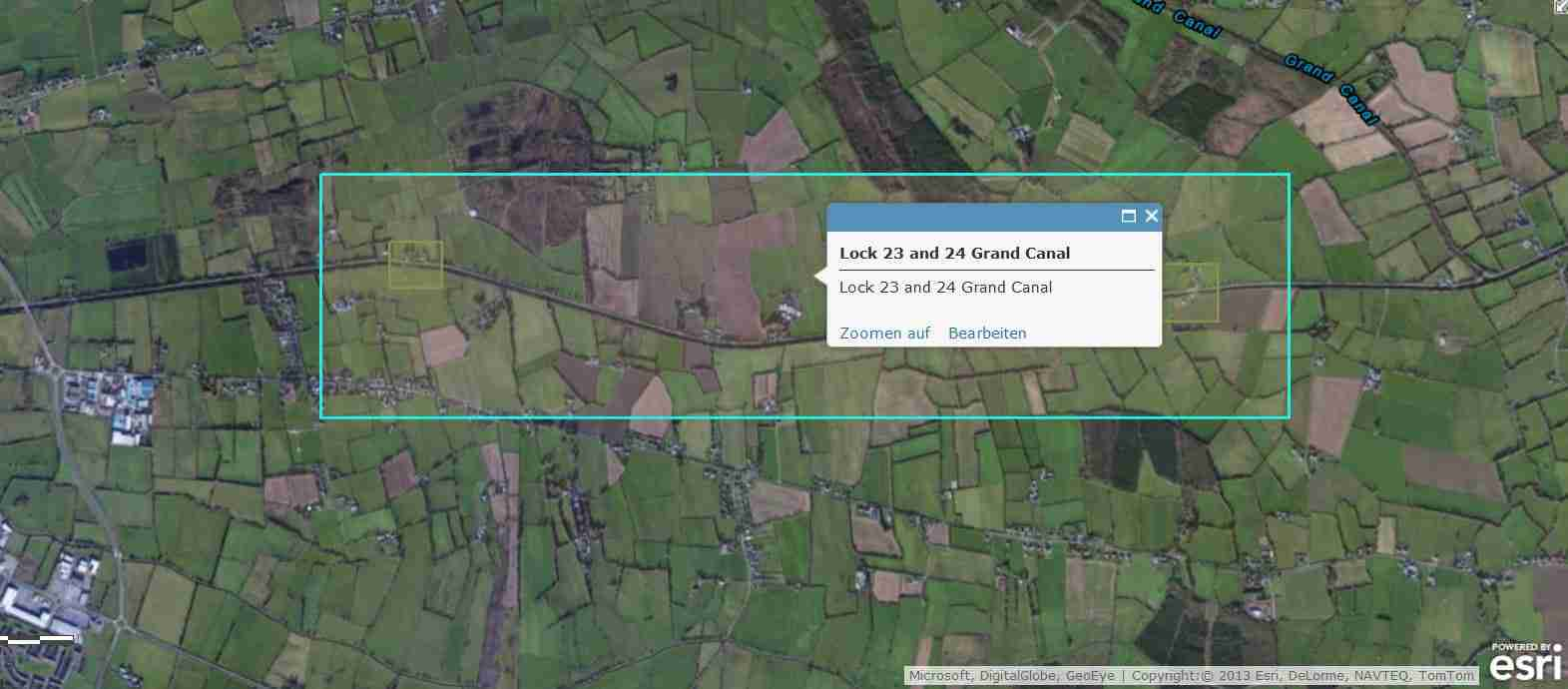 "Tullamore Grand Canal; © esri; click to Arcgis Map ""Tullamore on Grand Canal"""