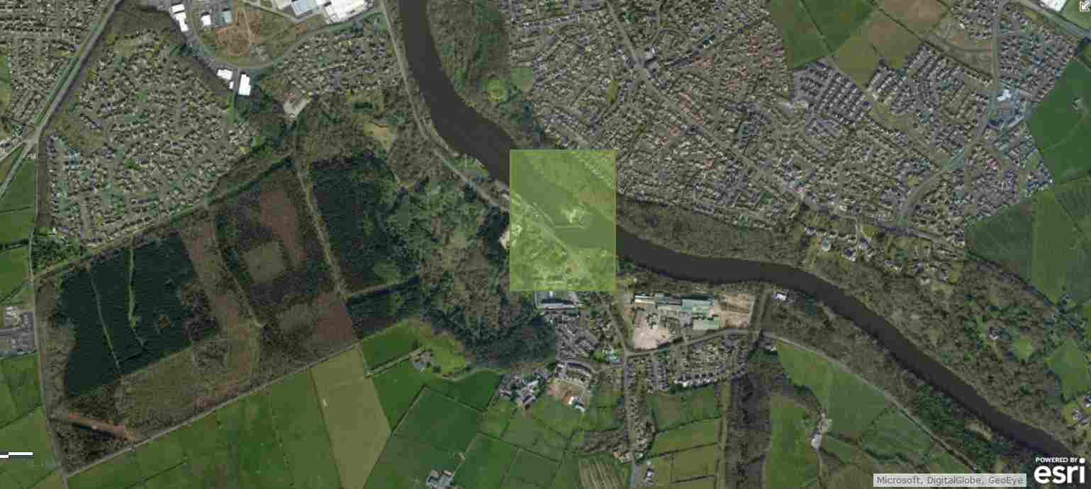 "Coleraine; © esri; click to Arcgis Map ""Coleraine Waterways Ireland Riverfest"""