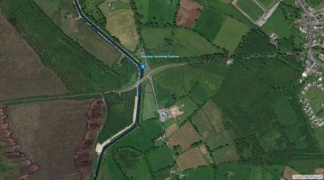 """Royal Canal Mosstown; © esri; click to Arcgis Map """"Royal Canal Mosstown Harbour"""""""