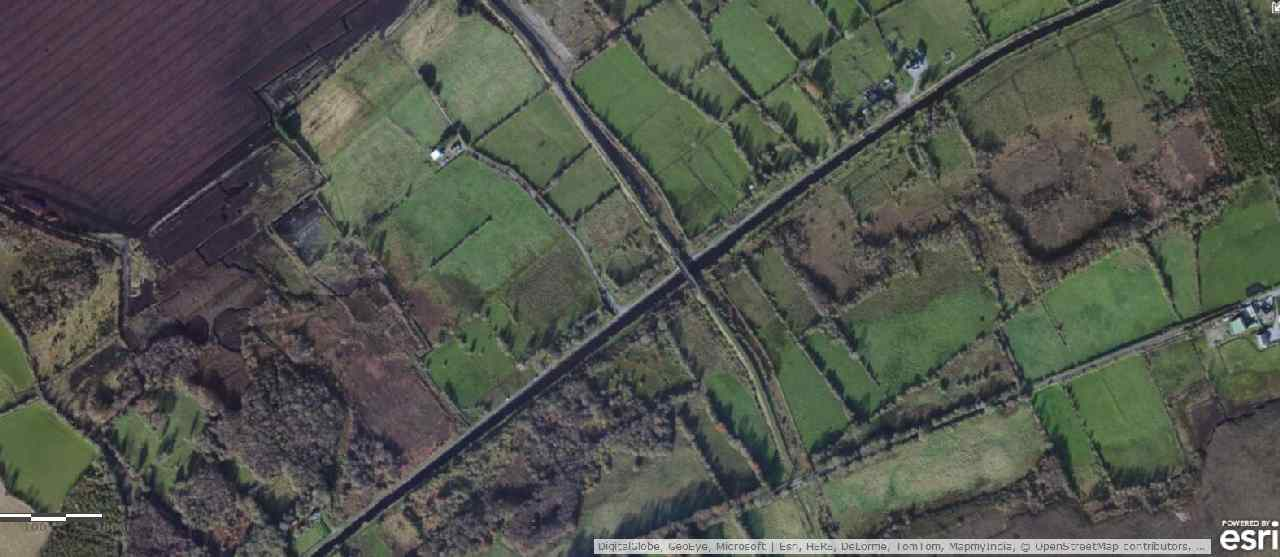 "Grand Canal at Ballycommon; © esri; click to Arcgis Map ""Grand Canal at Ballycommon"""