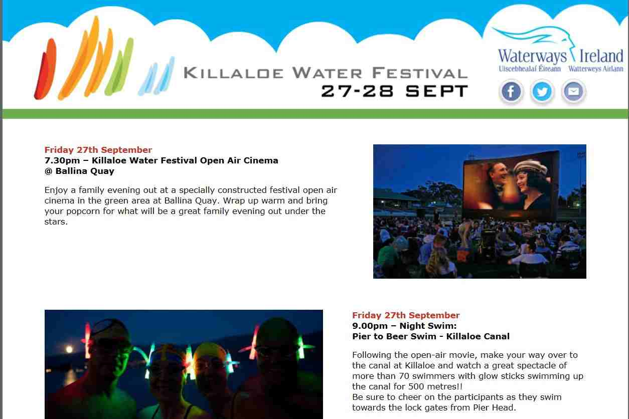"Killaloe Water Festival 2014; © Waterways Ireland; click to  "" WI Killaloe Water Festival Website"""