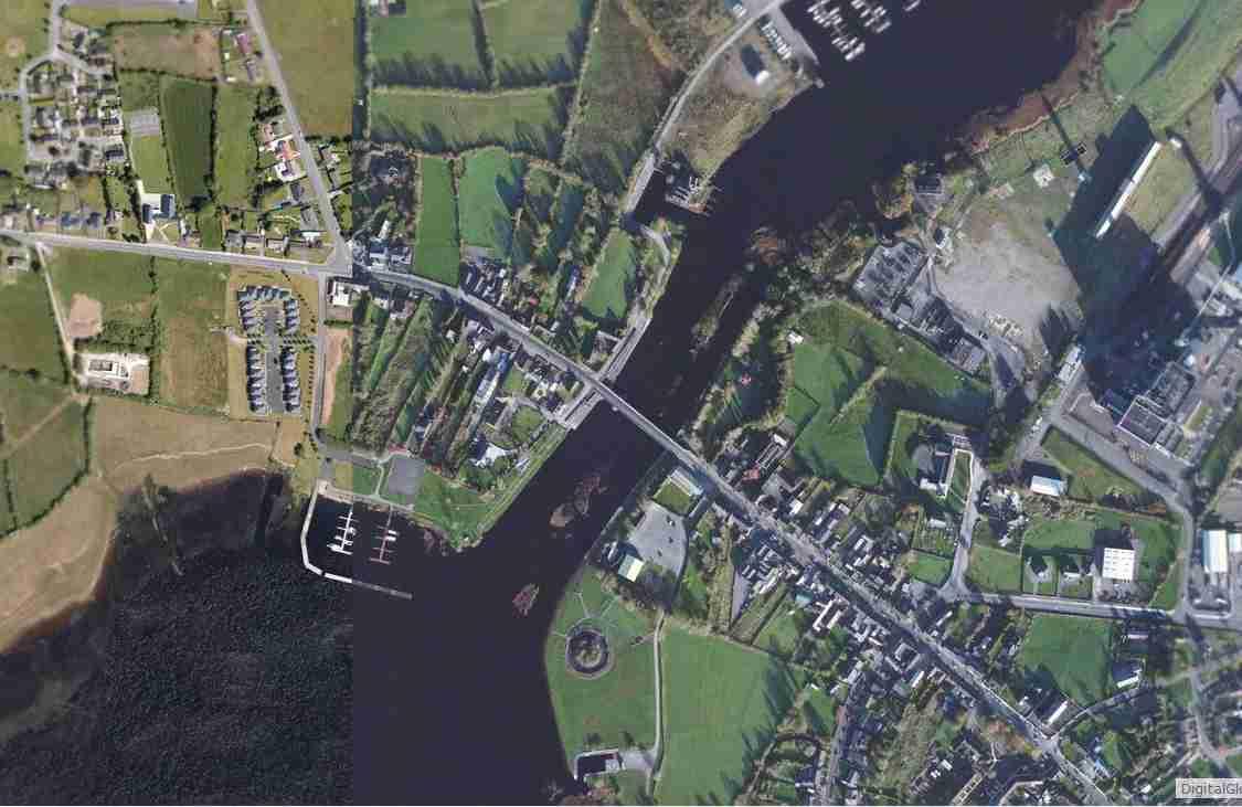 "Lanesborough-Ireland Lough Ree; © esri; click picture to ""Lanesborough-Ireland-Lough Ree"""