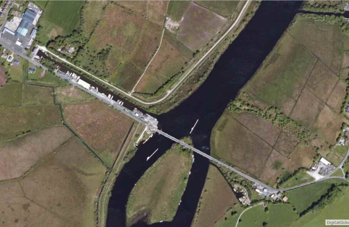 "Portumna, Swing Bridge; © esri; click to Arcgis Map "" Portumna, Swing Bridge"""
