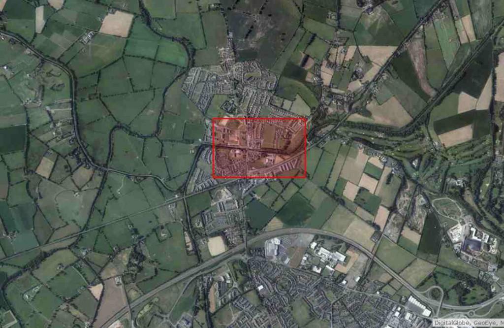 """Sallins-Co. Kildare; © esri; click to Arcgis Map """"Sallins-Co. Kildare"""""""