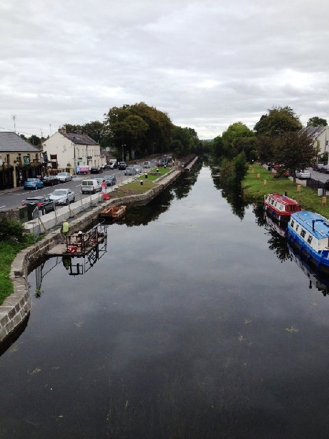 "Sallins-Moorings-from-bridge; © Ger Loughlin; click to ""IWAI Kildare Home"""