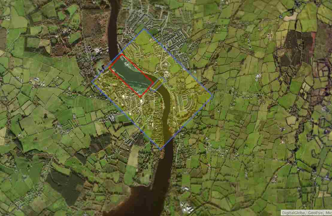 "Killaloe-Bridge; © esri; click to esrimap""Killaloe Balline"""