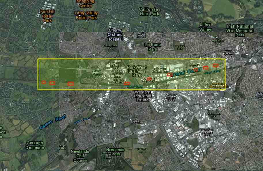 """Grand Canal Lock 3 - Lock 11; © esri; click picture to """"esri Map Grand Canal Lock 3 - Lock 11"""""""