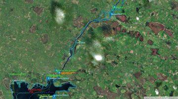 """Portumna to Ballymacegan © esri; click picture to """"esri Map Long-Islands-Shannon"""""""