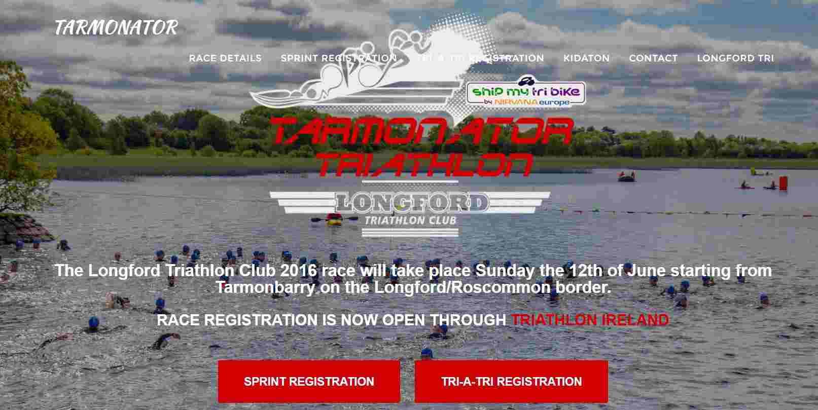 Tarmonator Triathlon 2016 - Longford Triathlon Club; click to Longford tri Ireland Tarmonator-Triathlon-2016