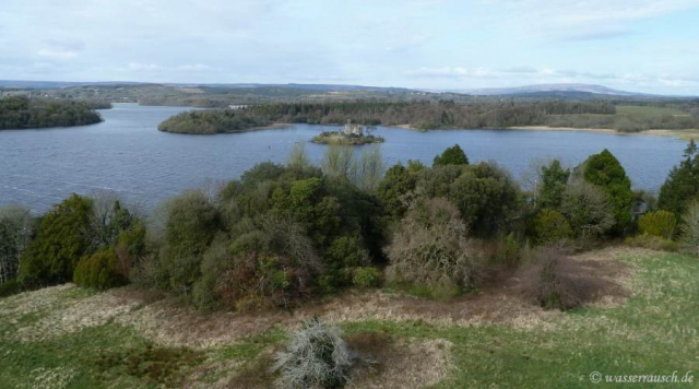 Lough Key from above view north-east