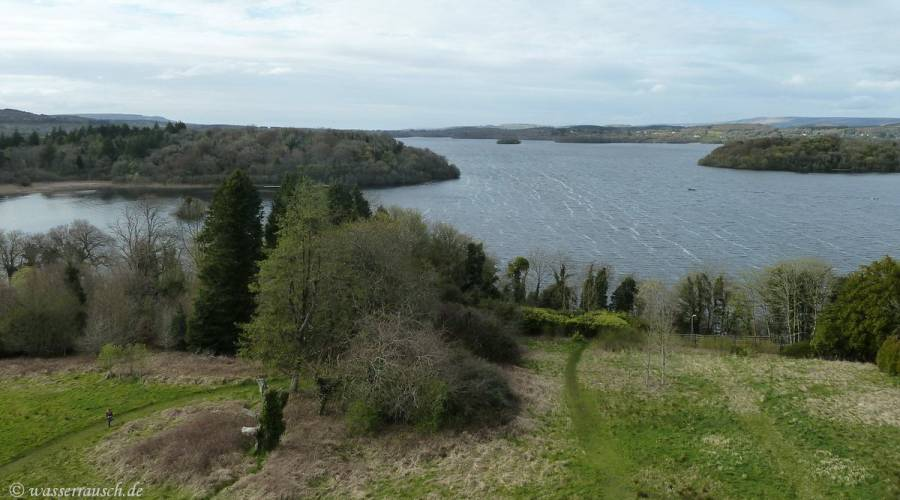 Lough Key from above view north-west