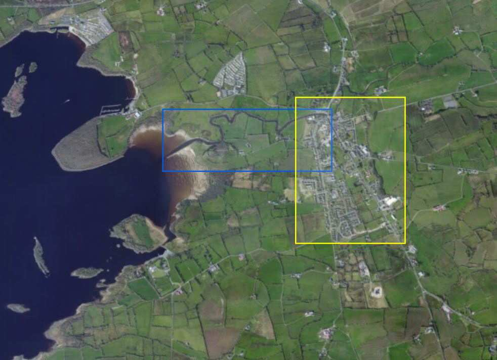 "Kesh River; © esri; click picture to esri map ""River Kesh Lower Lough Erne"""