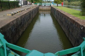 Lock at the Cutts, River Bann Colaraine; © Copyright Albert Bridge