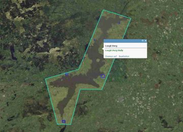 "Lough Derg; © esri; click to Arcgis Map ""Lough Derg"""