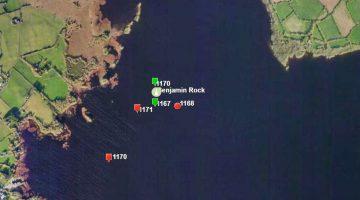 "Marker Lough Derg Benjaminrock; © esri; click picture to esrimap ""Markers near Benjaminrock"""