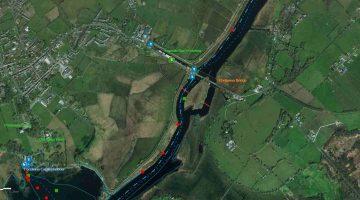 """Portumna Bridge; © esri; click to """"Lough Derg Portumna Bridge"""""""