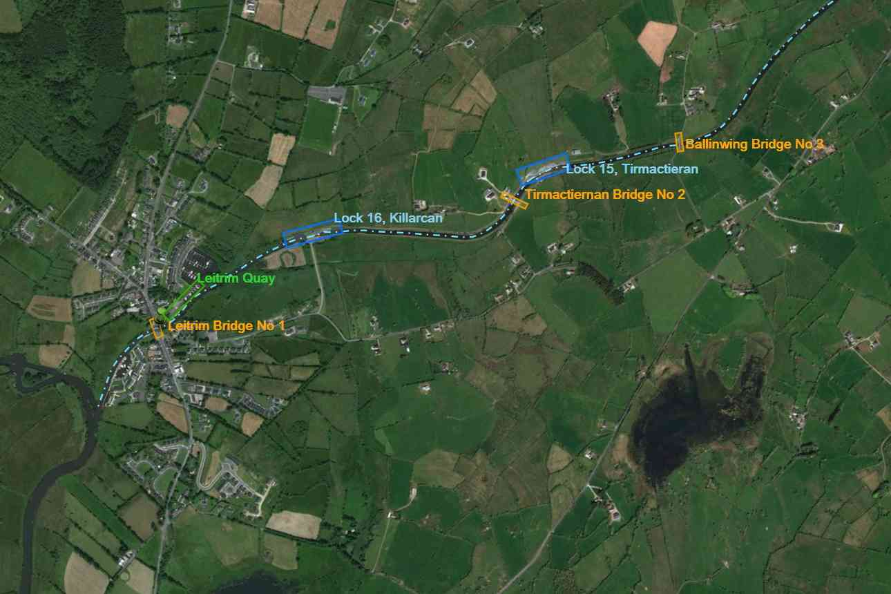 "Shannon-Erne Waterway; © esri; click picture to ArcGis Map "" Shannone-Erne-Waterway Lock's and Bridges"" Lock 16"