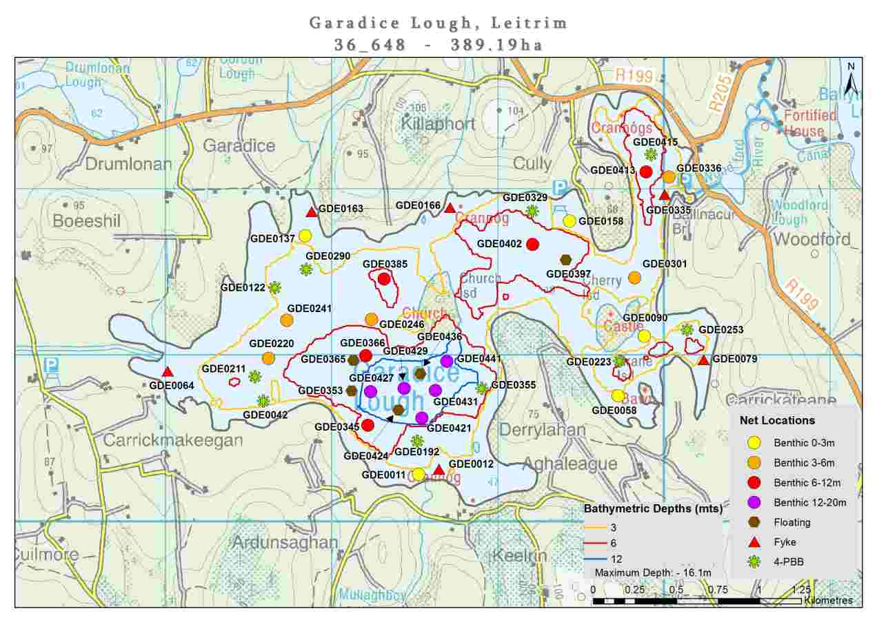 Lough Garadice Field Map © Waterways Ireland; click Picture to enlarge