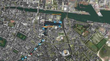 "Grand Canal-Docks; © esri; click picture to ""esri-map Grand Canal Dock Dublin Grand Canal"""