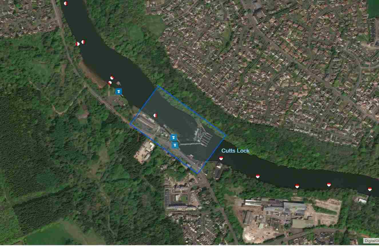 "Lock at the Cutts; © esri; click to Arcgis Map ""Lock at the Cutts; © esri"""