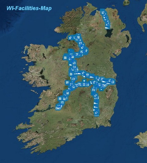 "WI-Facilities-Map, click to ""Waterways Ireland Facilities-Map"" © esri & WI"