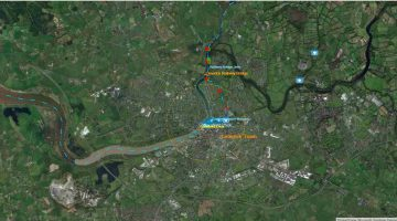 "Railway Bridge; © esri; click to"" esri-map Limerick-Town and Railway Bridge Jetty"""