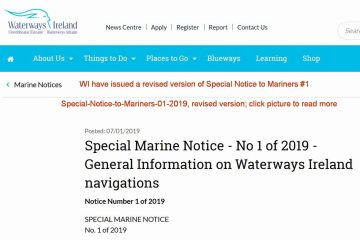 General Information on Waterways Ireland navigations; click picture to Waterways Ireland Webpage