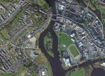 "Enniskillen-Castle Island; © esri; click to Arcgis Map ""Enniskillen"""