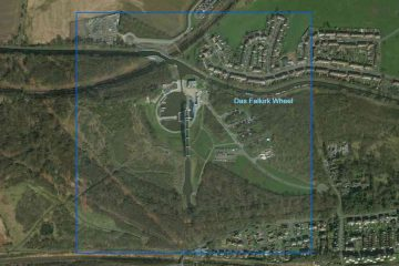 Das Falkirk Wheel in Schottland, click picture to Map