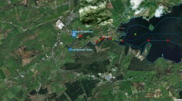 Scarriff Harbour Map © esri; click picture to ArcGis Map Scarriff River