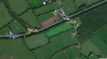 Campells Bridge Ballycommon; © esri click picture to ersi map Grand Canal
