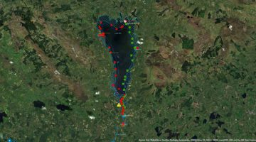 Lough Allen Canal Map © esri; click picture to Lough Allen ArcGis Map