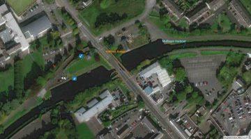Mullingar Harbour and Bridge; © esri click to esri map