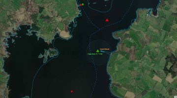 Goat's Island – Green E Buoy off station; © esri