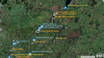 Ardnacrusha Power Station to Parteen Weir; © esri
