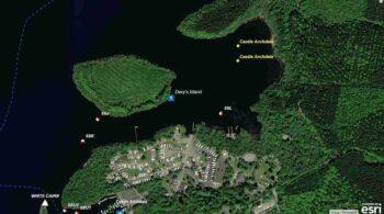 Lower Lough Erne Davy's Island Jetty © esri