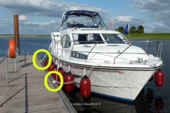 Therefore mooring lines should be checked regularly.